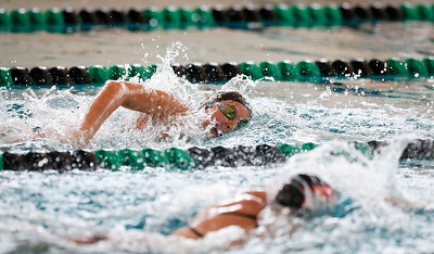 Jennifer Tokarz, from Jacobs, swims the 200 yard freestyle during the Woodstock Swimming Invite at Woodstock North High School on Saturday, 9/16/17 in Woodstock, Illinois. John Konstantaras photo for Shaw Media