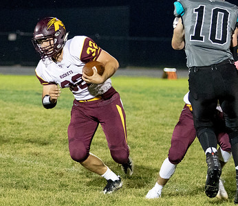 Richmond-Burton High School running back James Horner heads up field against Woodstock North Friday, September 22, 2017 in Woodstock. Woodstock North gets the big conference win 35-3. KKoontz – For Shaw Media