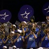 St. Charles North band pays during play against Glenbard East on Sept. 22 in St. Charles. St. Charles North won the game 38-6.
