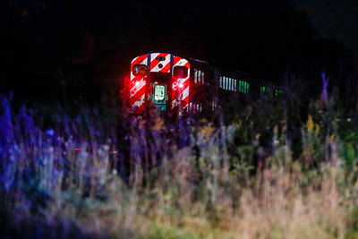Sarah Nader - snader@shawmedia.com A Metra train is stopped on the tracks after an accident involving a Metra train and a car colliding near Plum Tree Road in Lake Barrington Wednesday, Sept.27, 2017.