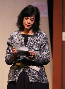 Candace H. Johnson-For Shaw Media Lynn Sciaraffa, of Woodstock (Annie) is moved by reading letters from cancer survivors during the dress rehearsal of Calendar Girls at PM& L Theatre in Antioch. The show runs from September 7th-23rd on weekends. (9/4/18)