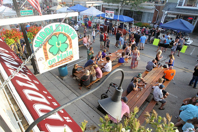 Candace H. Johnson-For Shaw Media Wauconda's 19th Annual Street Dance on view from the balcony of Middleton's on Main Street in Wauconda.