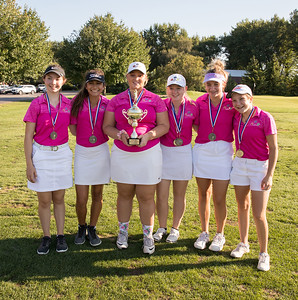 Crystal Lake Central Co-op golf team get yet another win Tuesday, September 11, 2018 at the McHenry County Girls Golf Tournament held at the Boone Creek Golf Club in Bull Valley, IL.  KKoontz – For Shaw Media