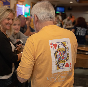 Seems that the only place the Queen of Hearts can be found is on a T-Shirt as the ten of spades was drawn Tuesday, September 11, 2018 at the Queen of Hearts raffle held at the VFW in McHenry. KKoontz – For Shaw Media