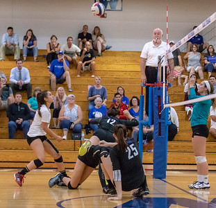 Woodstock players were all over the court making saves against crosstown rival Woodstock Thursday, September 13, 2018 at Woodstock High School. Woodstock went on to win the match in two straight sets. KKoontz – For Shaw Media