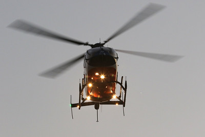 Candace H. Johnson-For Shaw Media A Flight for Life helicopter, McHenry based, makes its landing for all to see during Touch-A-Truck at the Hunt Club Park Community Center in Gurnee. (9/14/18)