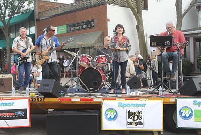 Candace H. Johnson-For Shaw Media The Classic Drive band sings a song by the Talking Heads during the Wauconda Street Dance on Main Street in Wauconda. (8/31/19)