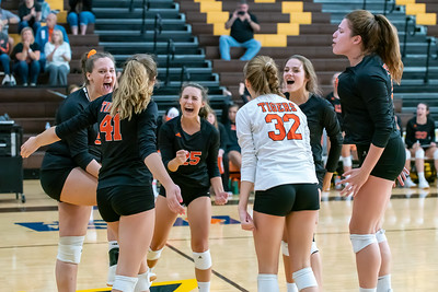Crystal Lake Central celebrates a point  in the semi final game against Belvidere North.