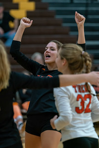 McKenna Timmerman celebrates after a huge win.
