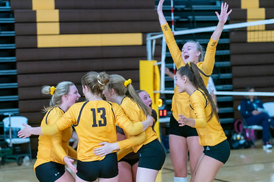 Jacobs celebrates a point against Cary Grove.