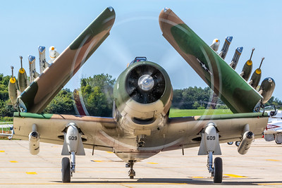 An A1 Skyraider prepares for flight at the 2019 Northern Illinois Airshow held Saturday, September 7, 2019 at the Waukegan National Airport in Waukegan.