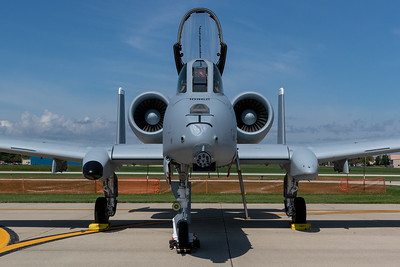 An A10 Warthog sits ready to entertain the crowd at the 2019 Northern Illinois Airshow held Saturday, September 7, 2019 at the Waukegan National Airport in Waukegan.