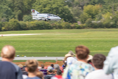 The BD-5 mini jet makes a low pass in front of the crowd at the 2019 Northern Illinois Airshow held Saturday, September 7, 2019 at the Waukegan National Airport in Waukegan.