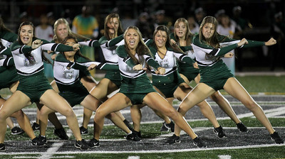 Candace H. Johnson-For Shaw Media Grayslake Central's Dance Team performs at half-time during the varsity football game against Mundelein at Grayslake Central High School. Mundelein won 31-13. (9/6/19)