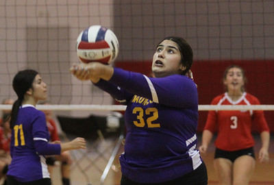 Candace H. Johnson-For Shaw Media Waukegan's Keyla Campos passes the ball against Grant in the first set at Grant Community High School in Fox Lake. Grant won 25-17, 25-14. (9/24/19)