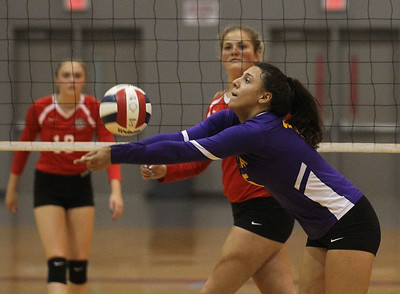 Candace H. Johnson-For Shaw Media Waukegan's Mia Carani passes the ball against Grant in the first set at Grant Community High School in Fox Lake. Grant won 25-17, 25-14. (9/24/19)