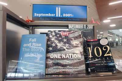 Candace H. Johnson-For Shaw Media Several books are on display to commemorate the 20th Anniversary of 9/11 at the Lake Villa District Library in Lindenhurst.  (9/7/21)