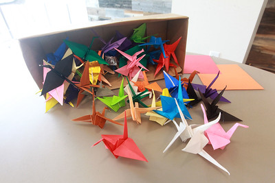 Candace H. Johnson-For Shaw Media Paper cranes can be made throughout the month of September in honor of 9/11 at the Lake Villa District Library in Lindenhurst. Cranes symbolize peace and healing. (9/7/21)