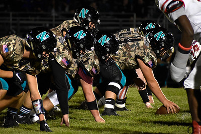 Woodstock North sets up for the snap against Ottawa during their game at Woodstock North High School on Friday, Sept. 24, 2021 in Woodstock.