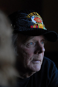 Vietnam veteran Mike Ramaker, of Lemont, describes his experiences and hardships on Monday, Oct. 29, 2012. Staff photo by Matthew Piechalak  |  Buy this photo at snapshots.mysuburbanlife.com/1559086