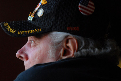 Vietnam veteran Mike Ramaker, of Lemont, looks out the window as he describes his experiences and hardships on Monday, Oct. 29, 2012. Staff photo by Matthew Piechalak  |  Buy this photo at snapshots.mysuburbanlife.com/1559086