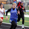 Geneva's Foster Ignoffo competes in the 100-meter dash Saturday during the Mike VanDeveer Invitational at Geneva High School.(Jeff Krage photo for Shaw Media)