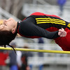 Batavia's Paulina Szakiel competes in the high jump Saturday during the Mike VanDeveer Invitational at Geneva High School. (Jeff Krage photo for Shaw Media)