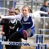 Geneva's Aimee Dappas competes in the 100-meter hurdles Saturday during the Mike VanDeveer Invitational at Geneva High School. (Jeff Krage photo for Shaw Media)