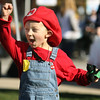 Jeff Krage – For the Kane County Chronicle<br /> Tucker Saam, 4, of Batavia celebrates Saturday after winning a game during BatFest in downtown Batavia.<br /> Batavia 10/20/12