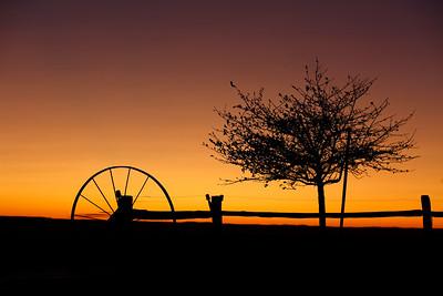 The sun sets on the Beyer family farm on Saturday, Nov. 2, 2019 in Sidney, NE.