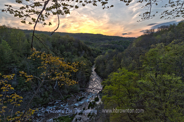 Swirly Sunset at Chittenango Falls