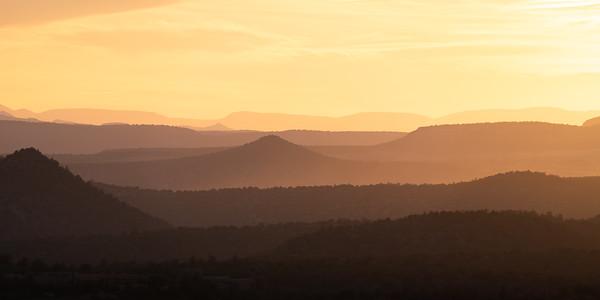 Sedona Sunset Silhouettes