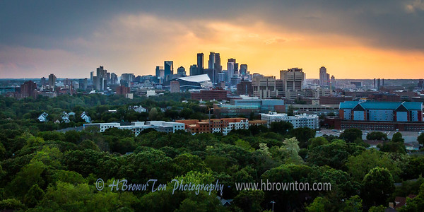 Minneapolis Skyline from Prospect Park Tower