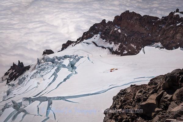 High Camp just a Speck on the Ingraham Glacier Below...