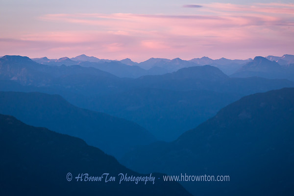 Afterglow Silhouettes of Fitzsimmons Range