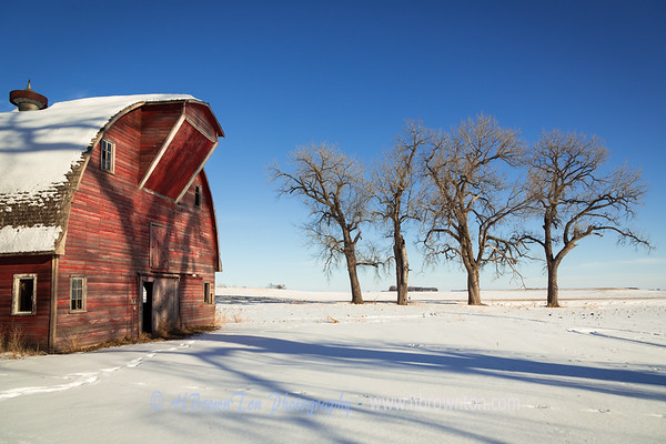 The Old Red Barn on a Crisp Minnesota Day