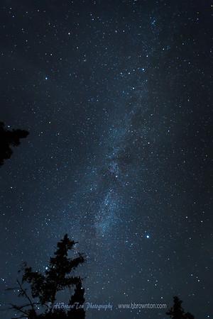 Milky Way over Northshore Lake Superior