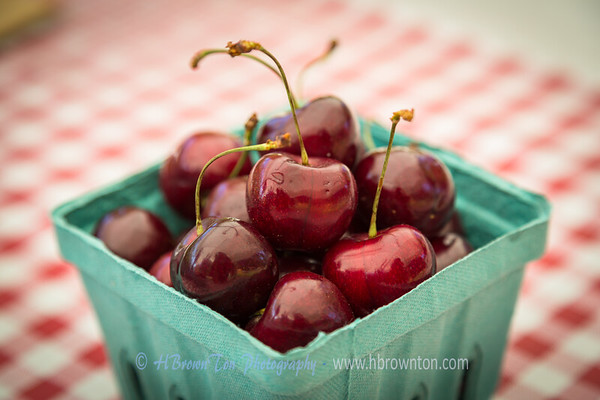 Delicious cherries ready to eat...