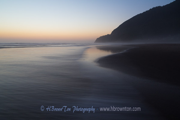 Manzanita Beach at sunset