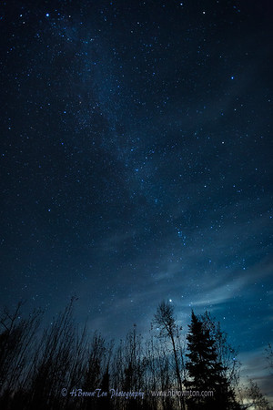 Stars Peering Through Subtle Clouds