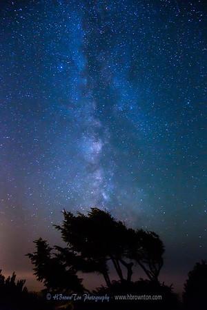 Milky Way over Pacific at Manzanita Beach