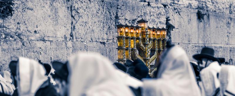 Hanukkiah at the Western Wall