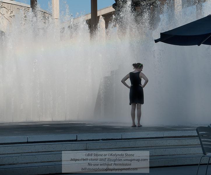 Kalynda and fountain<br /> Photo-a-Day 11/2/2012 Bill Stone
