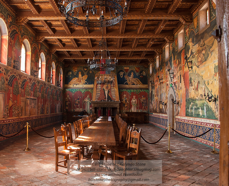 Great Hall - Castello di Amorosa winery, Napa Valley<br /> Photo-a-Day 10/1/2012 Bill Stone