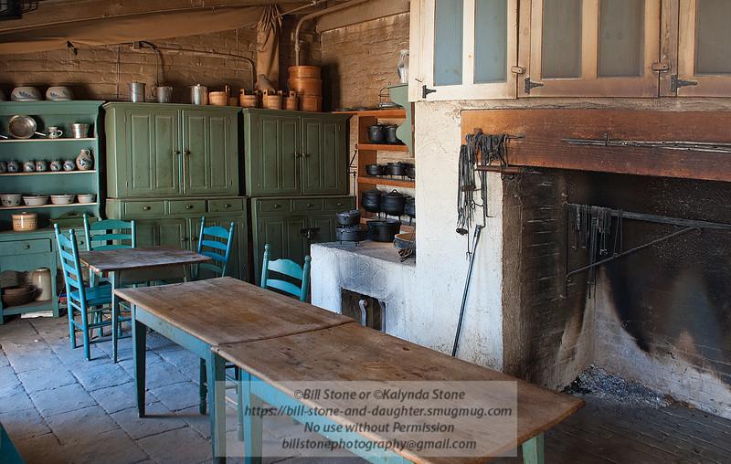 Kitchen, Sutter's Fort, Sacramento<br /> Photo-a-Day 6/22/2012 Bill Stone