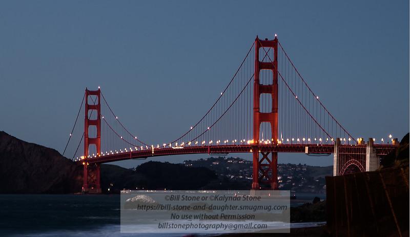 Golden Gate Bridge at Dusk<br /> Photo-a-Day 1/27/2013 Bill Stone