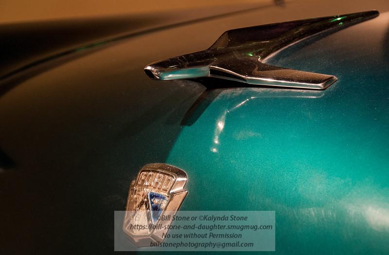 Ford Fairlane hood ornament and emblem
