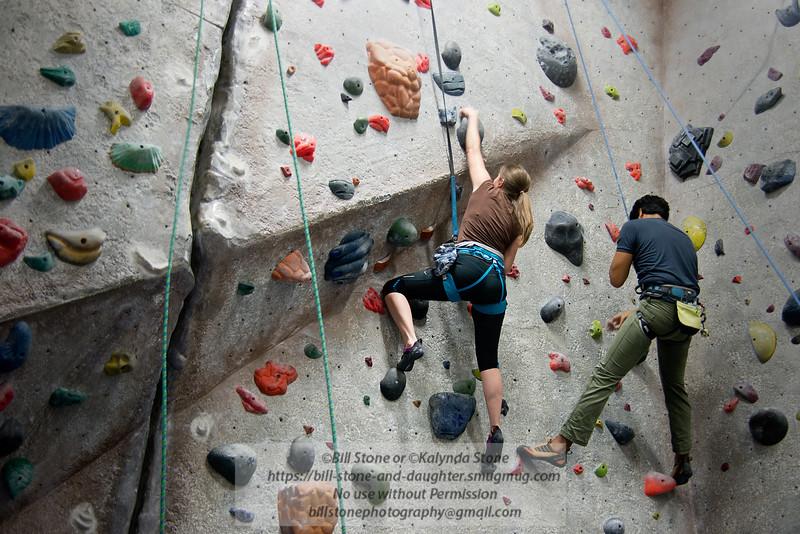 Kalynda climbing