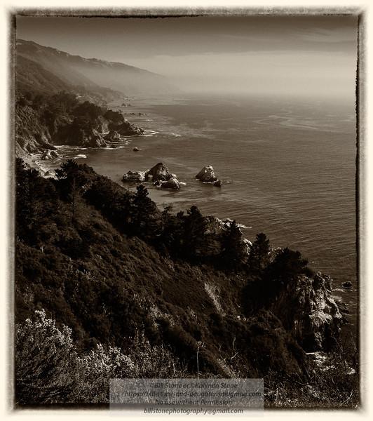 Big Sur Coast - Vintage Treatment<br /> Photo-a-Day 12/4/2014 Bill Stone