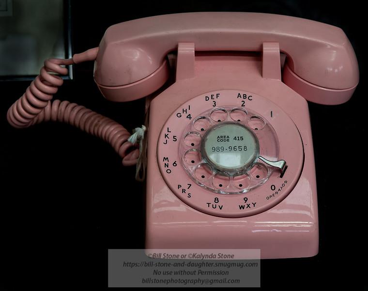 Pink Rotary telephone